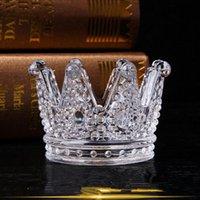 Cinzeiro de vidro cinzeiro Crowner Crown Designer Cinzeiro Castiçal Titular Casa Decoração Fumar Acessórios Presente Tool para namorado