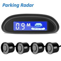 Car Parking Radar Monitor Detector System Auto Parktronic LED Sensor With 4 Sensors Reverse Backup Backlight Display Rear View Cameras&