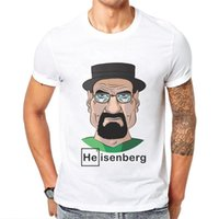Men's T-Shirts Men Tshirt Breaking Bad Printed Cotton Short-Sleeved Funny Man T Shirt Short Sleeve Character Cartoon Mens T-Shirt