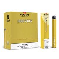Foger mini monouso 1000puffs 650mAh E Dispositivo di sigaretta 4ML Cartridge Pre-riempito Pen Pod Pod Kit USA Magazzino
