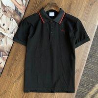 2021 New Europe Herren Red Stripe Print T-shirt Hohe Qualität Baumwolle Polo Brief T Shirts Designer T-Shirt Casual Tops T-Shirt T-Shirt