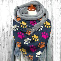 Scarves Butterfly Print Scarf Women Fashion Retro Female Multi-purpose Shawl Bufandas Invierno Mujer Winter Warmer