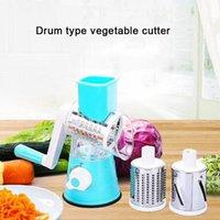 Manual Slicer Cozinha Ferramentas Capuz Vegetal Redondo Ralador Batata Spiralizer Cutter Acessórios Home OWD5781
