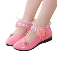 Sandals 2021 Children Elegant Princess PU Leather Kids Girls Wedding Dress Party Beaded Shoes For