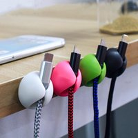 Cell Phone Mounts & Holders Cable Organizer Wire Holder Protector Wardrobe Storage Management Device Desktop Plug Retention Clips Power Cord