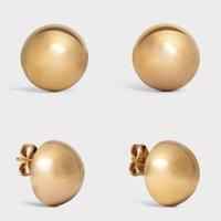 70% de rabais de bijoux de haute qualité Boucles d'oreilles simples adopter le processus de tour pour couper des boucles d'oreilles femelles plaquées en laiton semi-circulaire