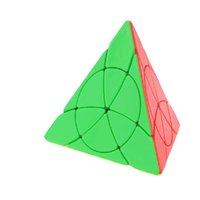 Yongjun يولونغ البتلة الهرم ورقة ماجيك مكعب jinzita الصافي مثلث yj neo كوبو ماجيكو سرعة ألعاب تعليمية للأطفال