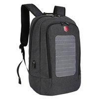 Mochila 2021 impermeável painel solar homens cobrando 15,6 polegadas mochilas portáteis sacos de viagem carregador Daypacks Masculino Mochila