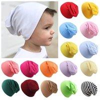 25 renk sonbahar ve kış bebek örme kap parti favor yenidoğan fetal şapka düz renk çocuk örgü şapkalar çocuklar headdress t9i001578