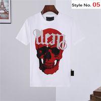T-shirts Hommes Diamant Crânes à manches courtes Top Européenne Américaine Impression Femmes Couples T-shirt de haute qualité M-3XL