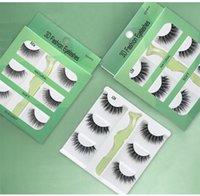 Make-up 3 Paare 3D Fake Mink Wimpern Natürliche lange wispy falsche Wimpernverlängerung Handmade volle Volumen Gefälschte Wimpern