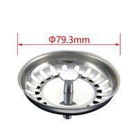 High Quality 79.3mm 304 Stainless Steel Kitchen Drains Sink Strainer Stopper Waste Plug Filter Bathroom Basin Drain 2084 V2