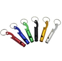 Asobio de metal multifuncional Keychain Liga de alumínio Gadgets Ferramenta de sobrevivência de emergência Assobio para camping Caminhadas Treinamento Keyring Witle