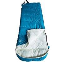 Uyku Tulumu Yetişkin Kış Kalınlaşmış Tek Polyester Açık Kamp Soğuk Yalıtım - Mavi
