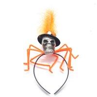 Hair Jewelry Halloween Spider head hoop skull Headband party supplies props terror headdress T2I52776