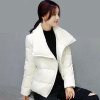 Women's Trench Coats White Black Color Short Korean Style Loose Female Cotton-Padded Fashion Women Wadded Warm Outwear Clothing
