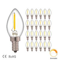 Night Light Bulbs C7 Chandelier E12 E14 Base Decorative Dimmable 0.5 Watts Christmas Small Candle Bulb 2700K LED
