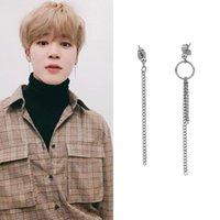 Hoop & Huggie The 2021 Men And Women Chain Tassel Asymmetric Stud Earrings Hip-Hop Punk Rock Jewelry Gifts