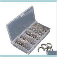 Sports & Outdoors200Pcs Stainless Steel Fishing Split Rings Lure Loop For Blank Crank Bait Connector Carp Aessories Tackle Pesca Tool Drop D