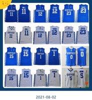 Kentucky Wildcats Jersey College Basketball Devin Booker John Wall Davis Karl-Anthony Towns Demarcus Cousins Malik Monk Fox Blue Hommes Jerseys