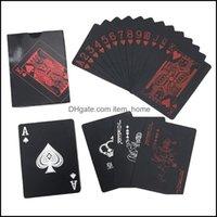 Greeting Event Festive Party Supplies Home & Gardengreeting Cards Pvc Plastic Playing Set Trend 54Pcs Deck Tricks Tool Pure Black Magic Box-