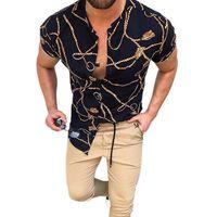 Plus Sizes 3XL Men's Casual Vintage Shirts Cardigan Printed Shorts Sleeve Slim Summer Hawaiian Shirt Skinny Fit Various Pattern Man Clothes Blouse Tops