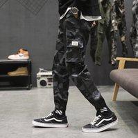 Hommes 2021 Jogging Multi-poche Chaugeons de camouflage Pantalon en polaire peint de style militaire de style militaire de lacets hommes
