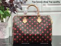 M41107 BEST-VERKAUFEN SCHLUSS SCHULTER BAG Speedy 30 Cherry Stilvolle Handtasche Boston Frauen Echtes Leder Modekissen mit Kasten