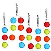 Tetris Toys Beychain Hidget Push Bubble Настольная игра Сенсорная простая силиконовая головоломка игрушка аутизм беспокойство напряжение стресса H317JXF