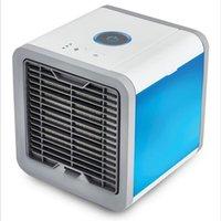 Mini ar condicionado fan 7 cores luz usb portátil 3 engrenagem espaço pessoal de refrigeração espacial