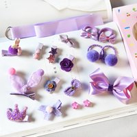 18 pcs / lote bebê menina de cabelo conjunto fita arco-knot coroa barrettes crianças boutique acessórios de cabelo acessórios headwear 584 K2