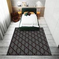 Carpets Black Style Carpet In The Bedroom Decoration Living Room Rug Long Corridor Floors Welcome Mat DoormatBath