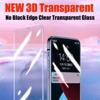 Protector de pantalla de vidrio templado de cubierta completa transparente 3D para iphoen 13 12 11 Pro max xr xs 6 7 8 Samsung A02S A10 A10S A12 A42 A32 A52 A22 New No Black Edge Film