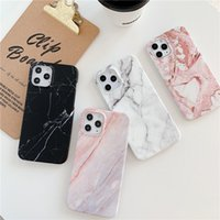 For iPhone 13 11 12 Pro Max cases XR XS 7 8 Plus X Soft Marble Phone Back Cover Case