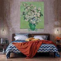 Güller Tuval Üzerine Büyük Yağlıboya Ev Dekor El Sanatları / HD Baskı Duvar Sanatı Resimleri Özelleştirme Kabul Edilebilir 21052001