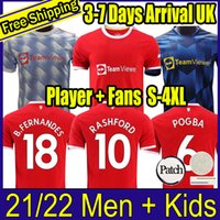 2021 2022 Manchester Pogba Händel B.Fernandes United Rashford Fouth Football Trikots Hemd 21 22 Man Kinder Kit Spielerversion
