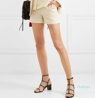 designer Summer Women Sandals Rock Studs Chunky Heels Rivets Ankle Strappy Ladies Sanals Luxury Party Wedding Fashion Travel Sandalias