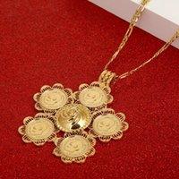Pendants Thiopian Big Cross Necklaces Women Men Gold Color Jewelry Africa Coin Eritrea Habesha Necklace