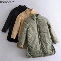 Bordsra Spring Свободные двойные карманные сплит-рубашка Куртка для рубашки.