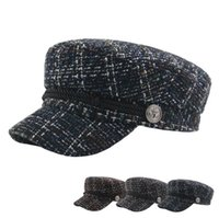 أزياء الشارع newsboy القبعات القبعات الخريف الشتاء قبعة سميكة الدافئة للجنسين قبعات الرجعية منقوشة قبعة قبعة للنساء الرجال