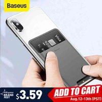 Baseus Evrensel Telefon Geri Cüzdan Kart Yuvaları Kılıf I 12 11Pro Max X Sumsung 3 M Sticker Silikon Kılıfı