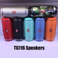 TG116 Bluetooth Portable Haut-parleur Double Horn Mini Subwoofer étanche de plein air Subwoofer sans fil Support TF USB Carte FM Radio