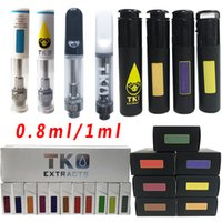 TKO Empty Vape Pen Cartridges Glass Thick Oil Cartridge 0.5ml 1ml Atomizers 510 Ceramic Carts Wax Vaporizer Thread E Cigarette