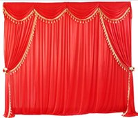 Party Decoration 3MX3M Silk Cloth Drapes Panels Hanging Curtains With Swags Po Backdrop Wedding Events DIY