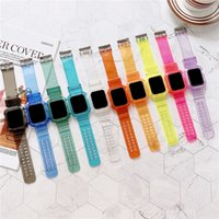 Glacier Series Colorful TPU Sport Straps for Apple Watch iWatch 6 5 4 3 2 1 SE 38 40mm 42 44mm Protective Case Replacement Bracelet Bands