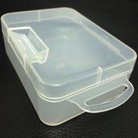 Caja de almacenamiento de plástico Caja de almacenamiento con tapa con bisagras, artículos pequeños, artesanías, joyas, piezas de hardware de piezas de caja / portacontenedores para pequeños accesorios de hardware (504)