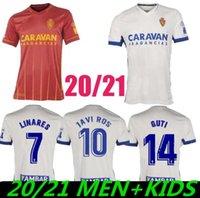 2021 echtes zaragoza fußball jerseys vazquez zapater miguel 20/21 männer + kinderhemden hause nach außen kundenspezifische fußballuniformen