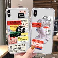 Ретро штрих-код Labecell Case Case Lwith Cavers подушки безопасности для iPhone 12 11 Pro Max XR XS X 8 7 6 PLUS Soft TPU Cover оптом DHL бесплатно