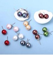 Stud Earrings of Simple Polynesian Jewelry Wholesale Samoan Colorful Pearls Hawaiian Boho Earring for Women Gift