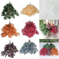 Dekorativa blommor kransar 9 gaffel peanut grön jujube lämnar konstgjorda hem dekoration skrivbord simulering växt diy bröllop växter